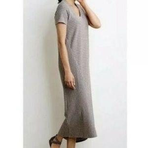 Pure J. Jill Porcini Grey Striped Maxi Dress 1X